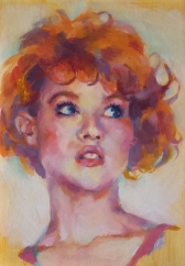 sara wilson art nude woman oil board canvas painting figurative painter victoria molly ringwald fan art breakfast club sixteen candles hot art wet city vancouver