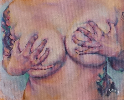 sara wilson art nude woman oil board canvas painting figurative painter victoria
